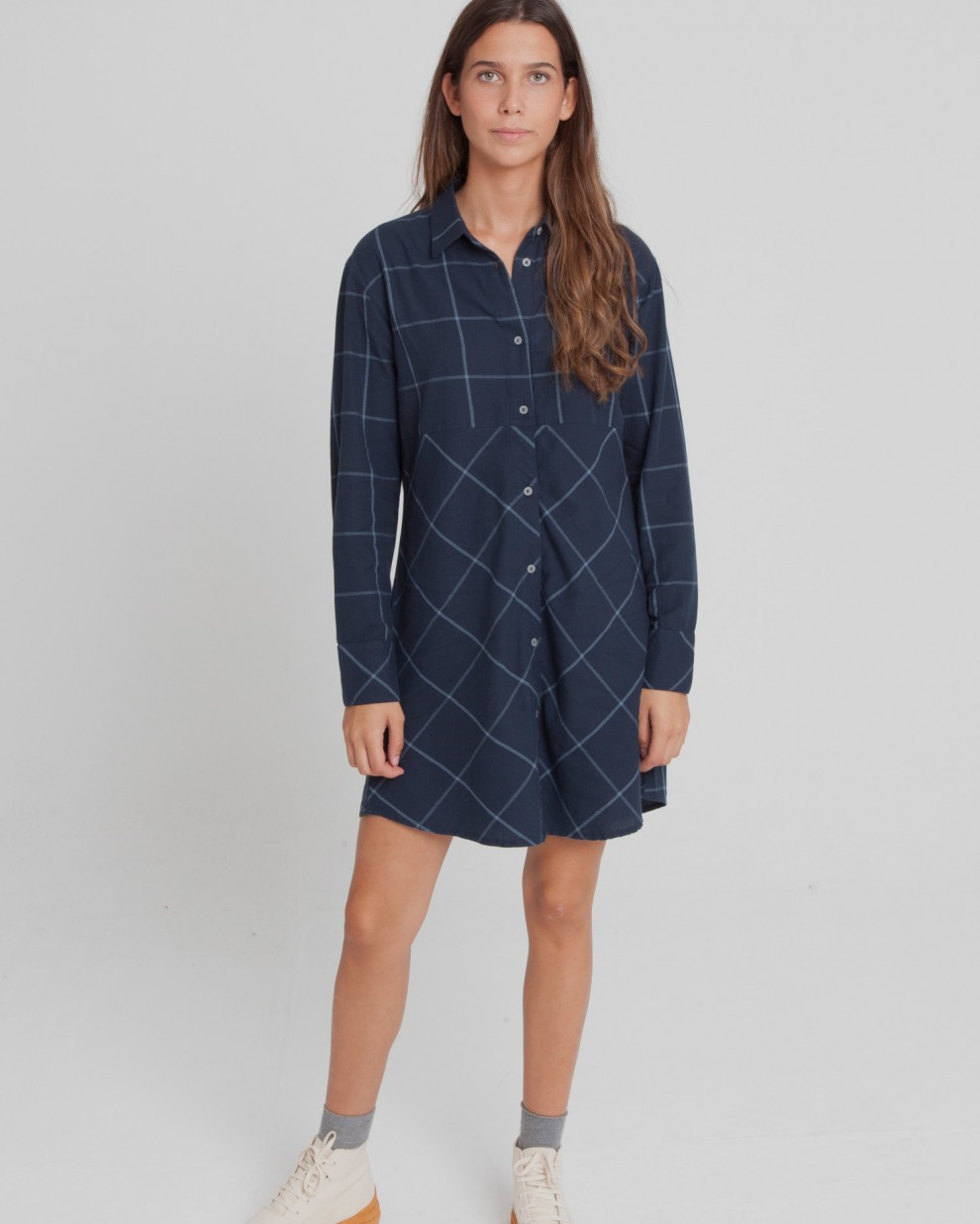 Blue Checks Amanda Dress