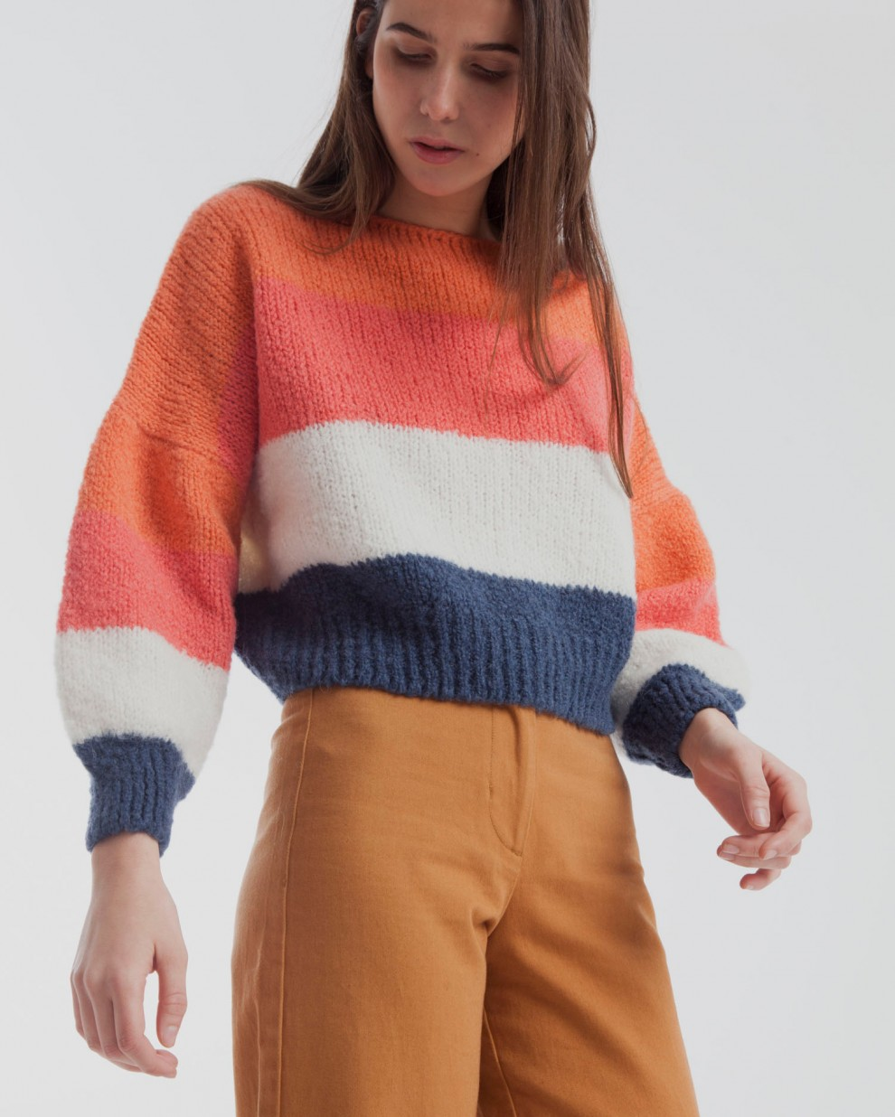Salmon Knitted Sweater