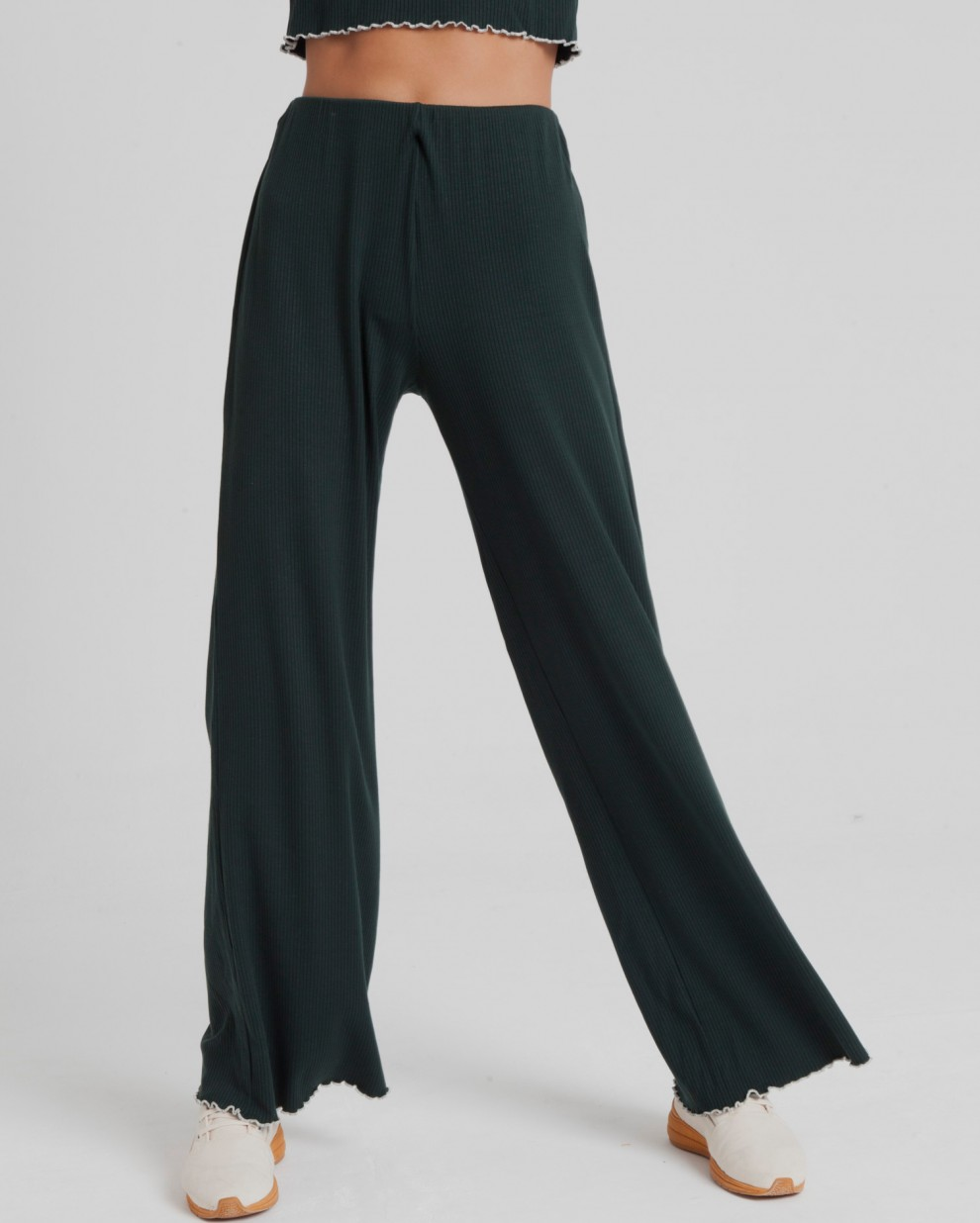 Scarab Green Rib Wide Pant