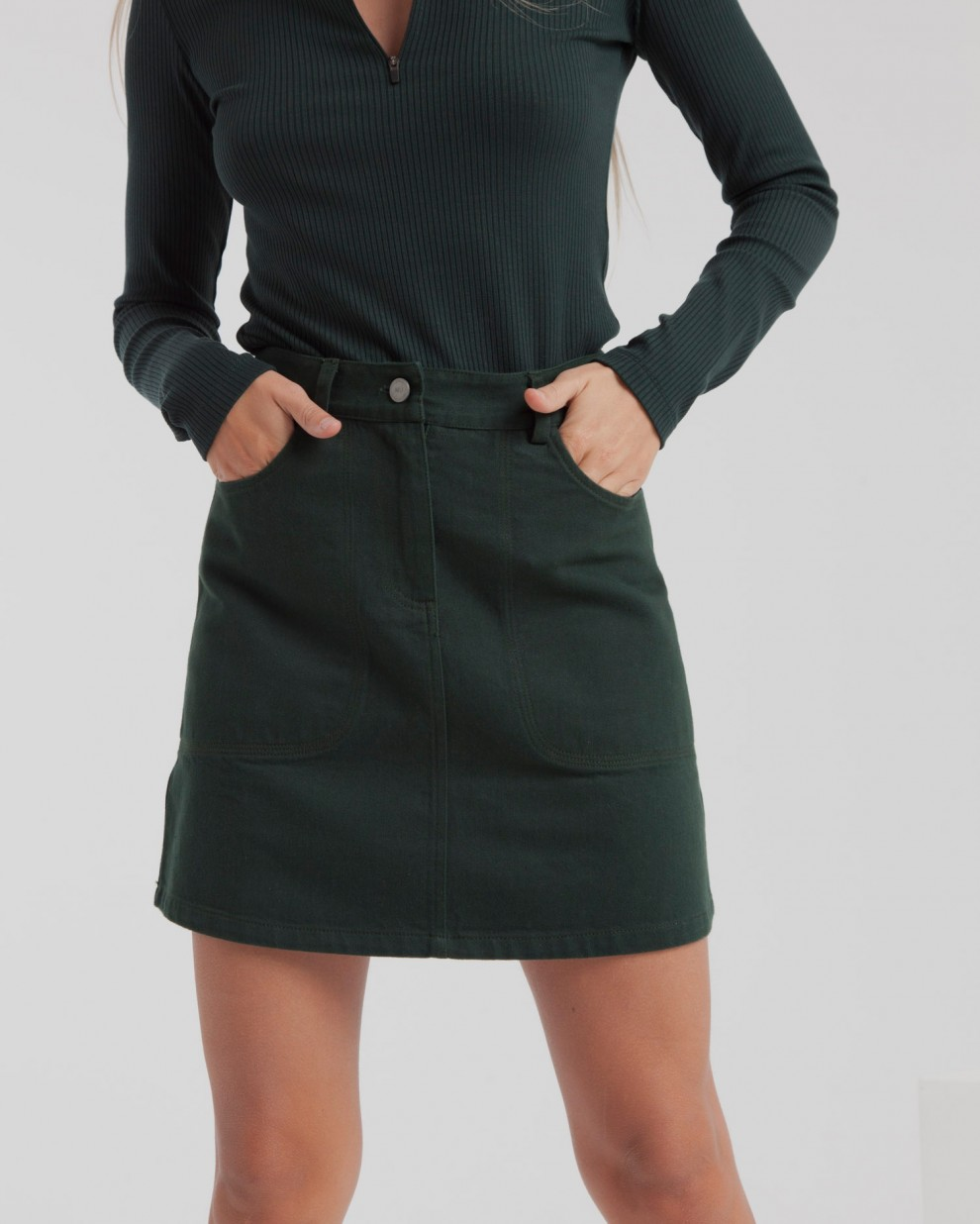 Green Marsha Short Skirt
