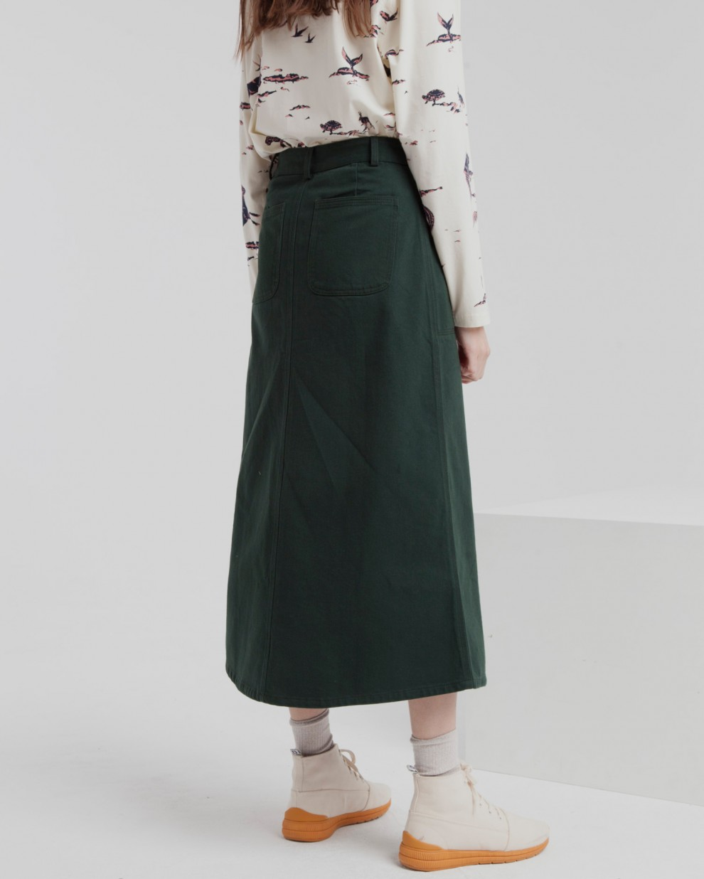Scarab Green Valentina Long Skirt