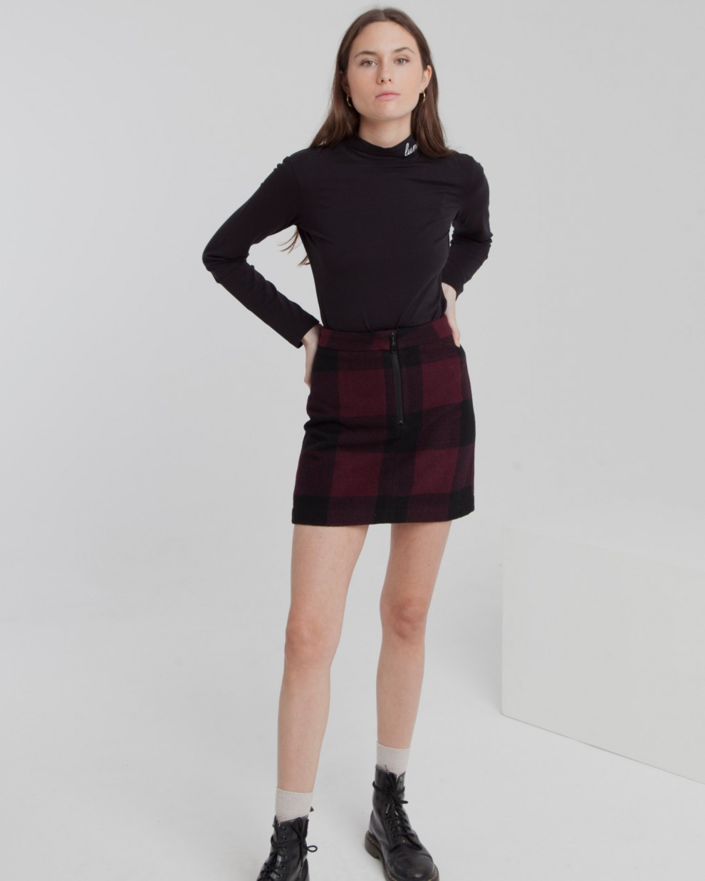 Wine Checks Mary  Skirt