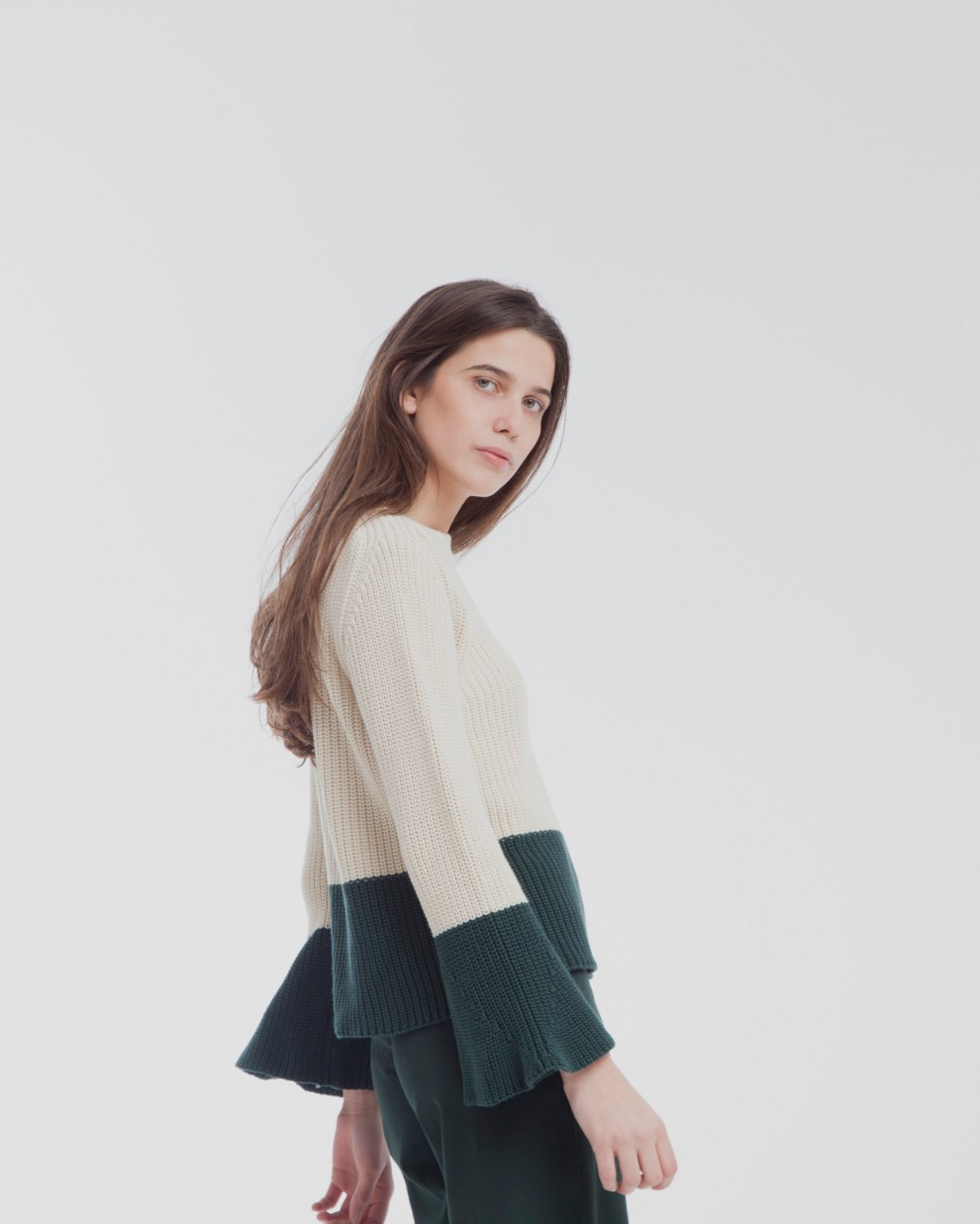 Ecru Wide Sleeve Sweater