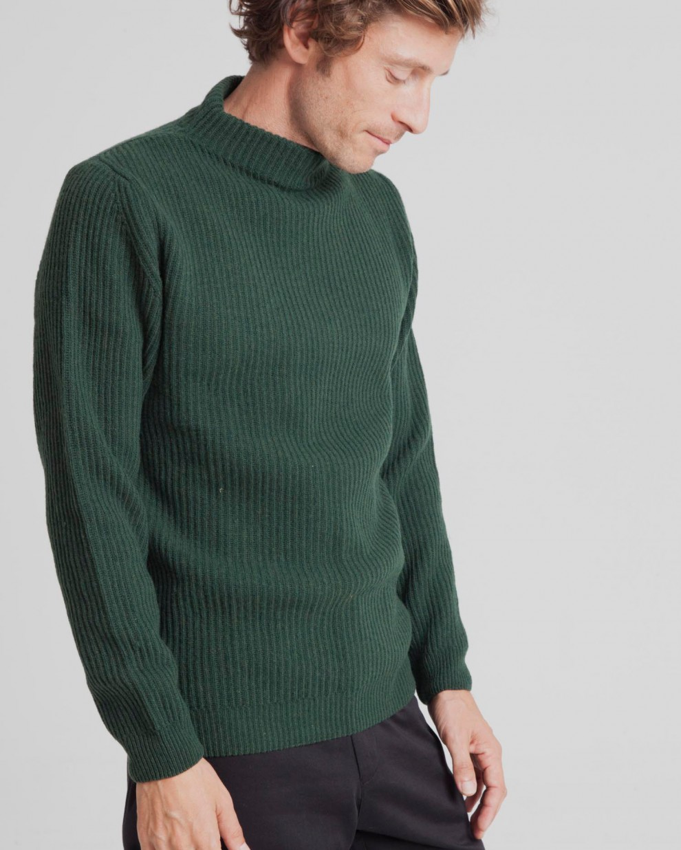 Green Perkins Thick Sweater