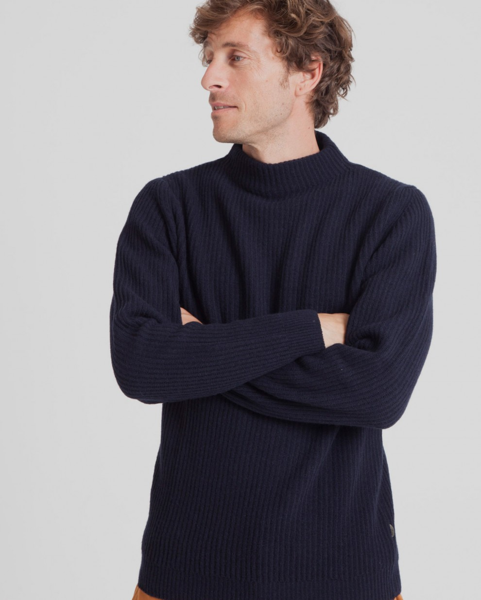 Blue Perkins Thick Sweater