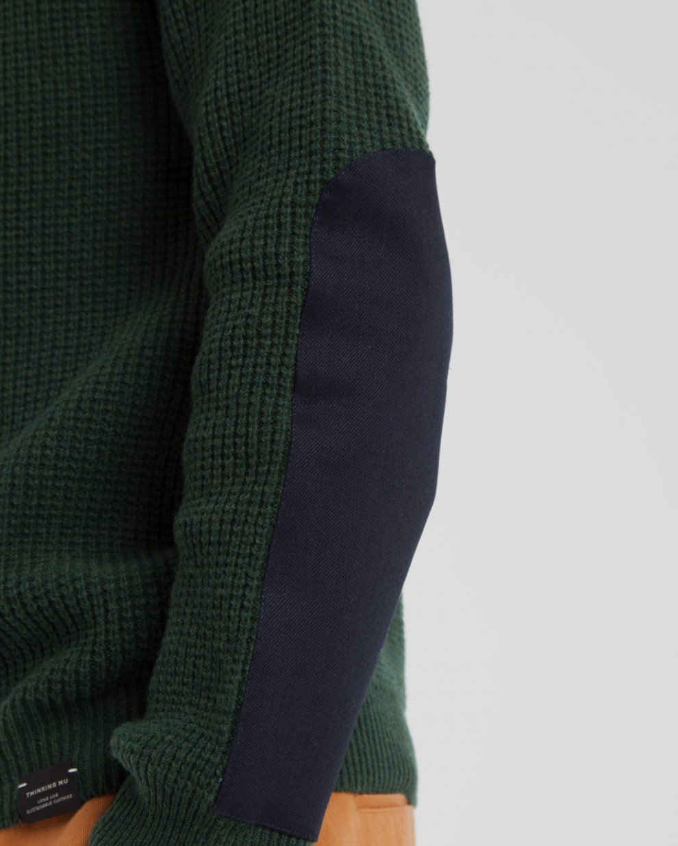 Jersey Scarab Green Patched Elbows