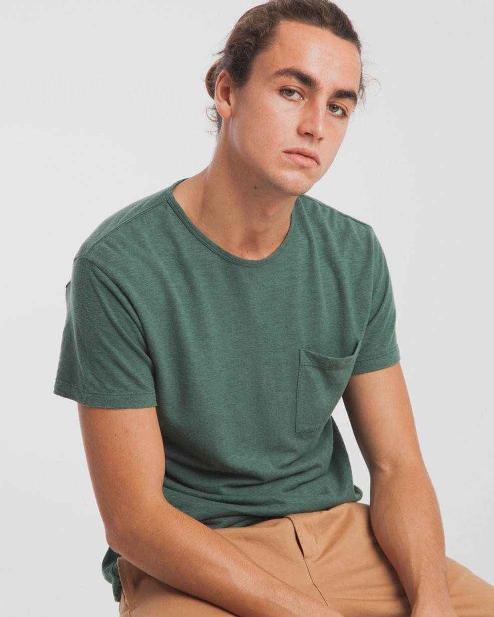 Hemp Green Pocket T-Shirt