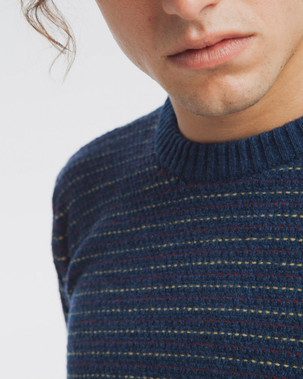 Blue Lines Sweater