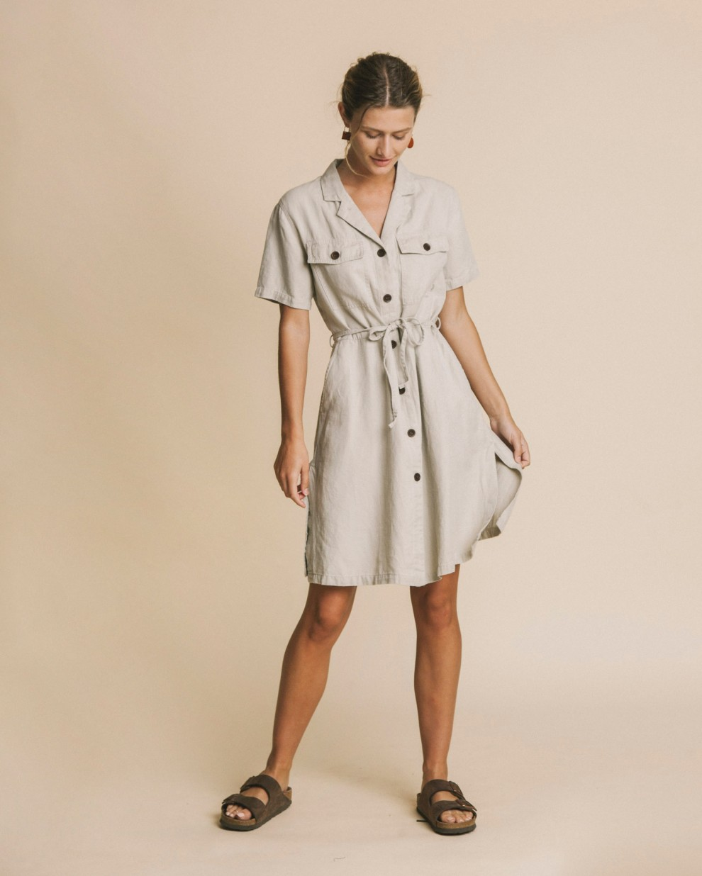 Stone hemp Karen dress