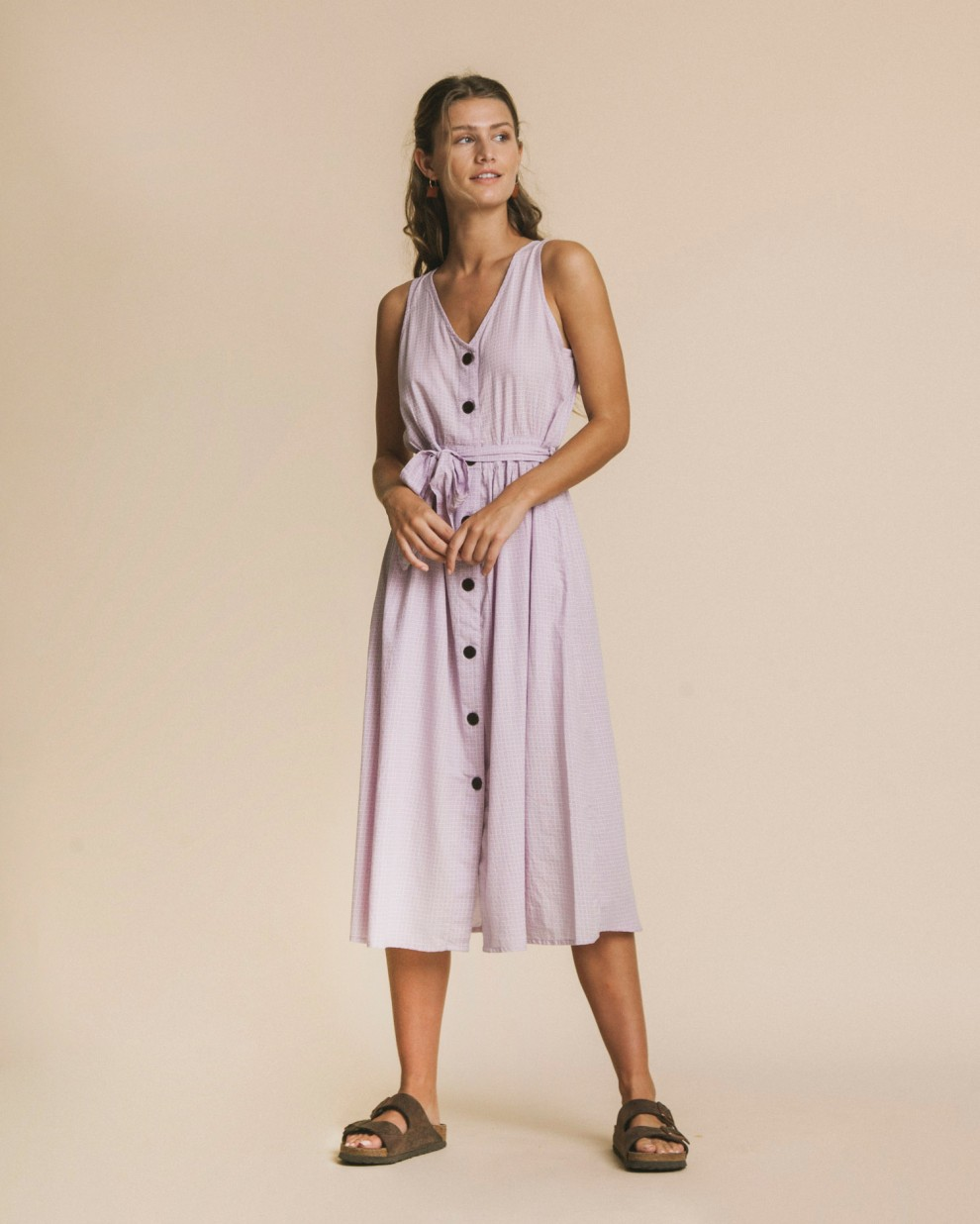 Cuadros mauve Jolie dress