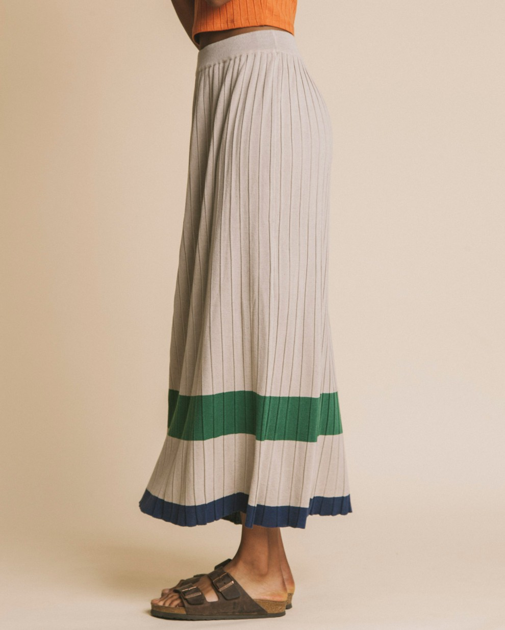Falda bedo pleated sand