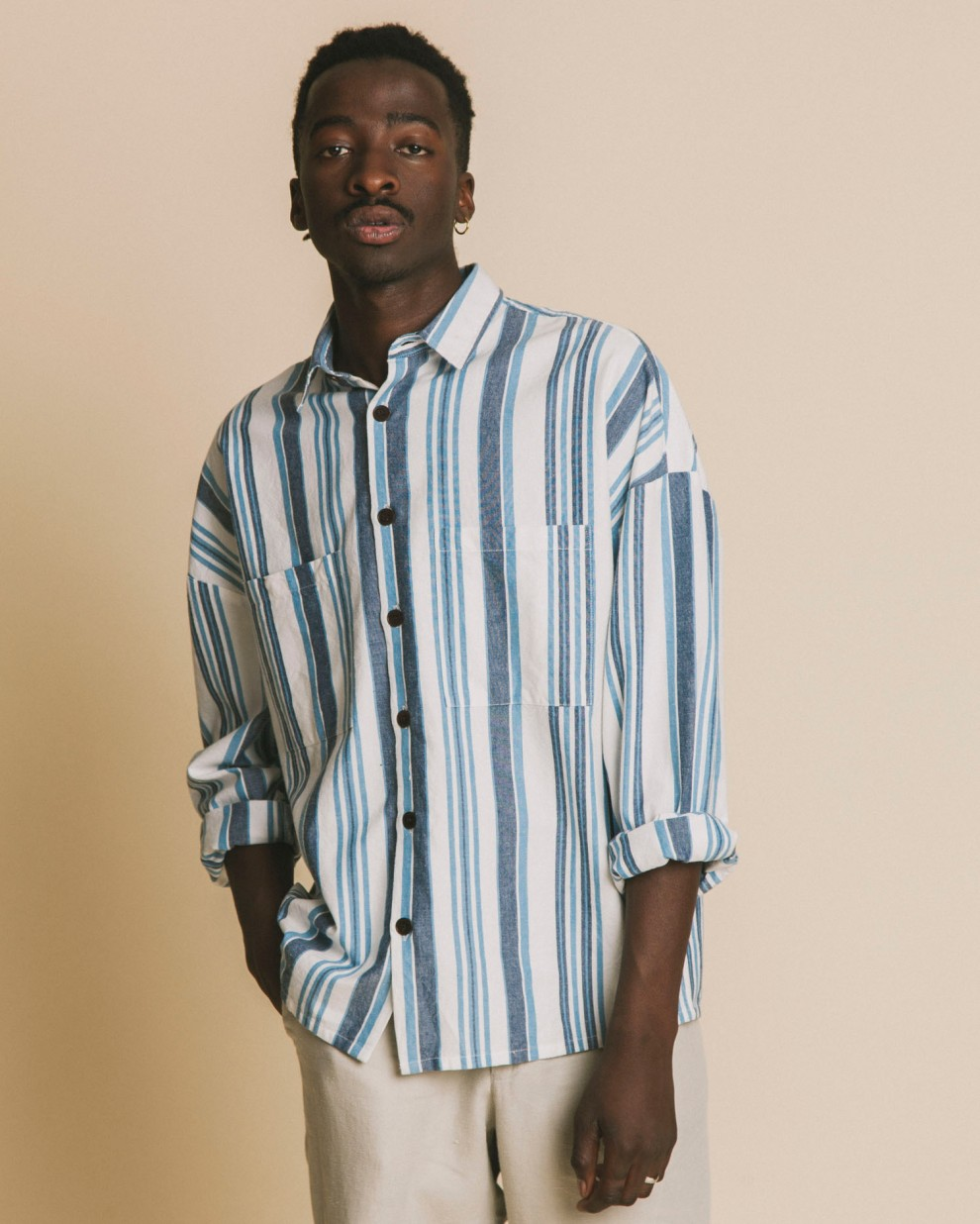 Blue stripes Gambia shirt