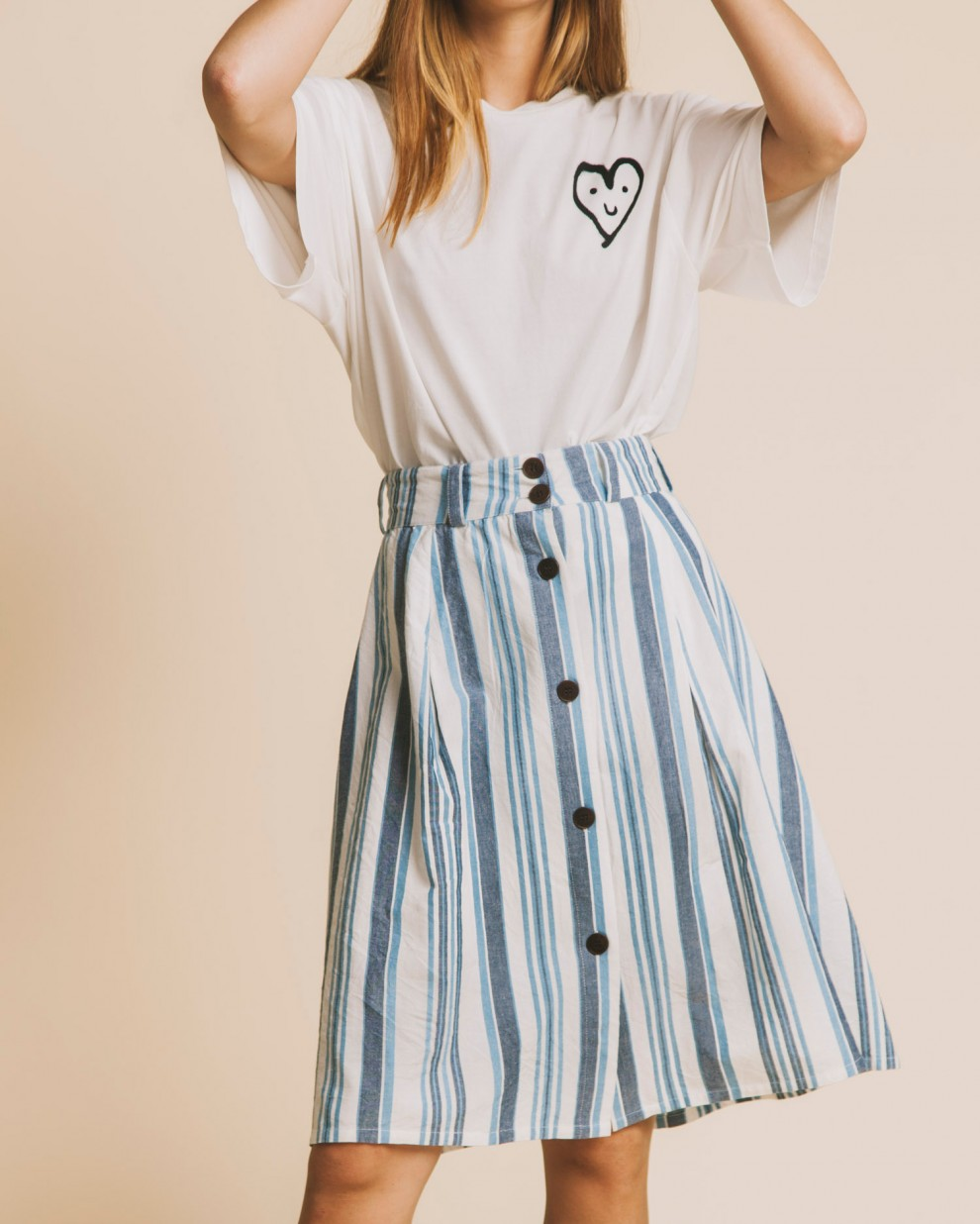 Blue stripes Tugela skirt