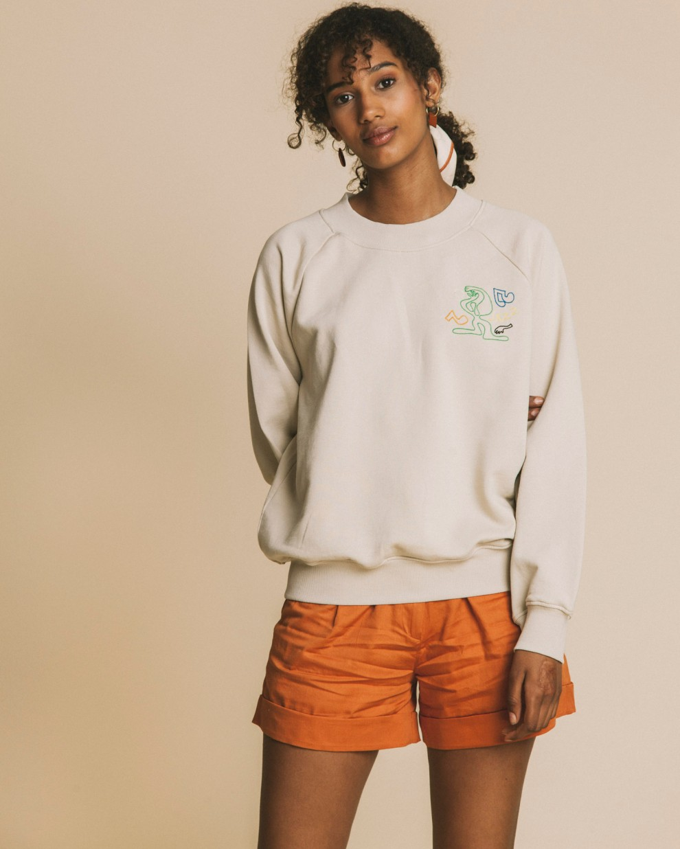 Jazz embroidered sweatshirt