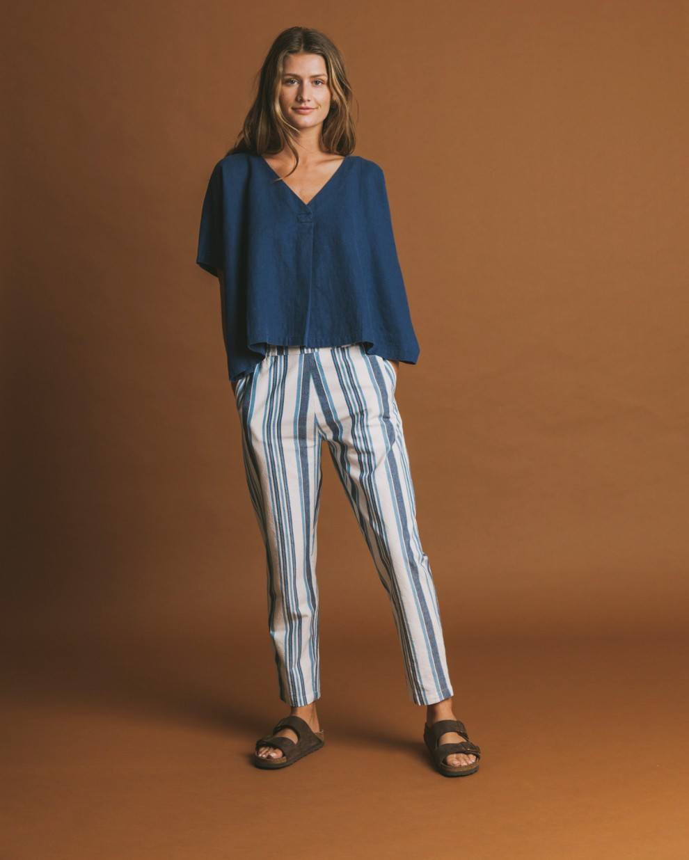 Blue stripes Ella pants