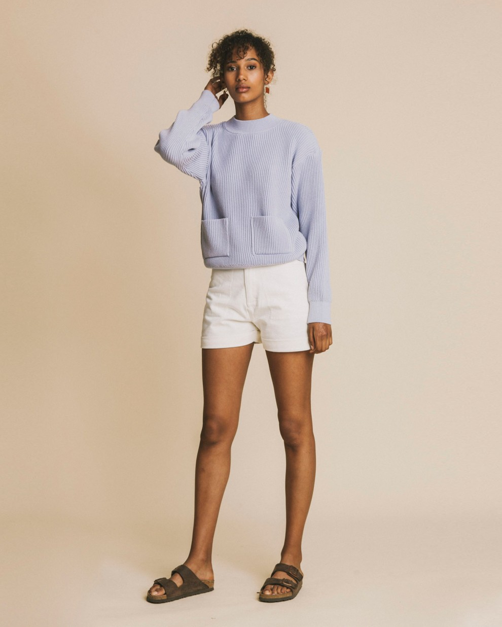 Mauve Faleme knitted sweater