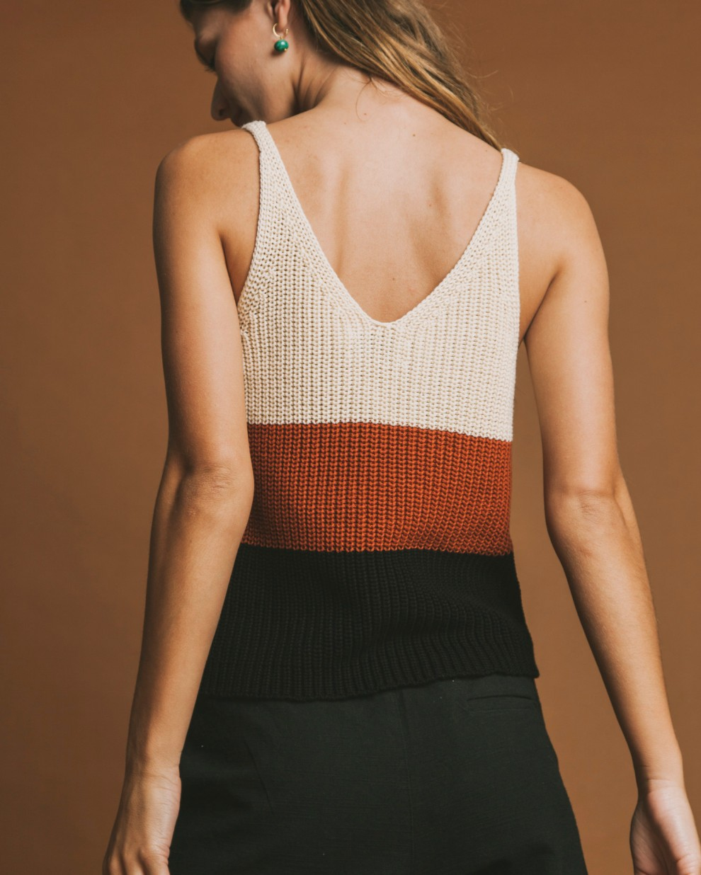 Multicolor knitted top