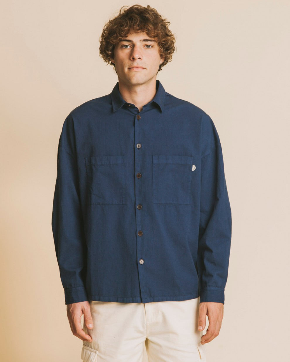 BLUE GAMBIA OVER-SHIRT