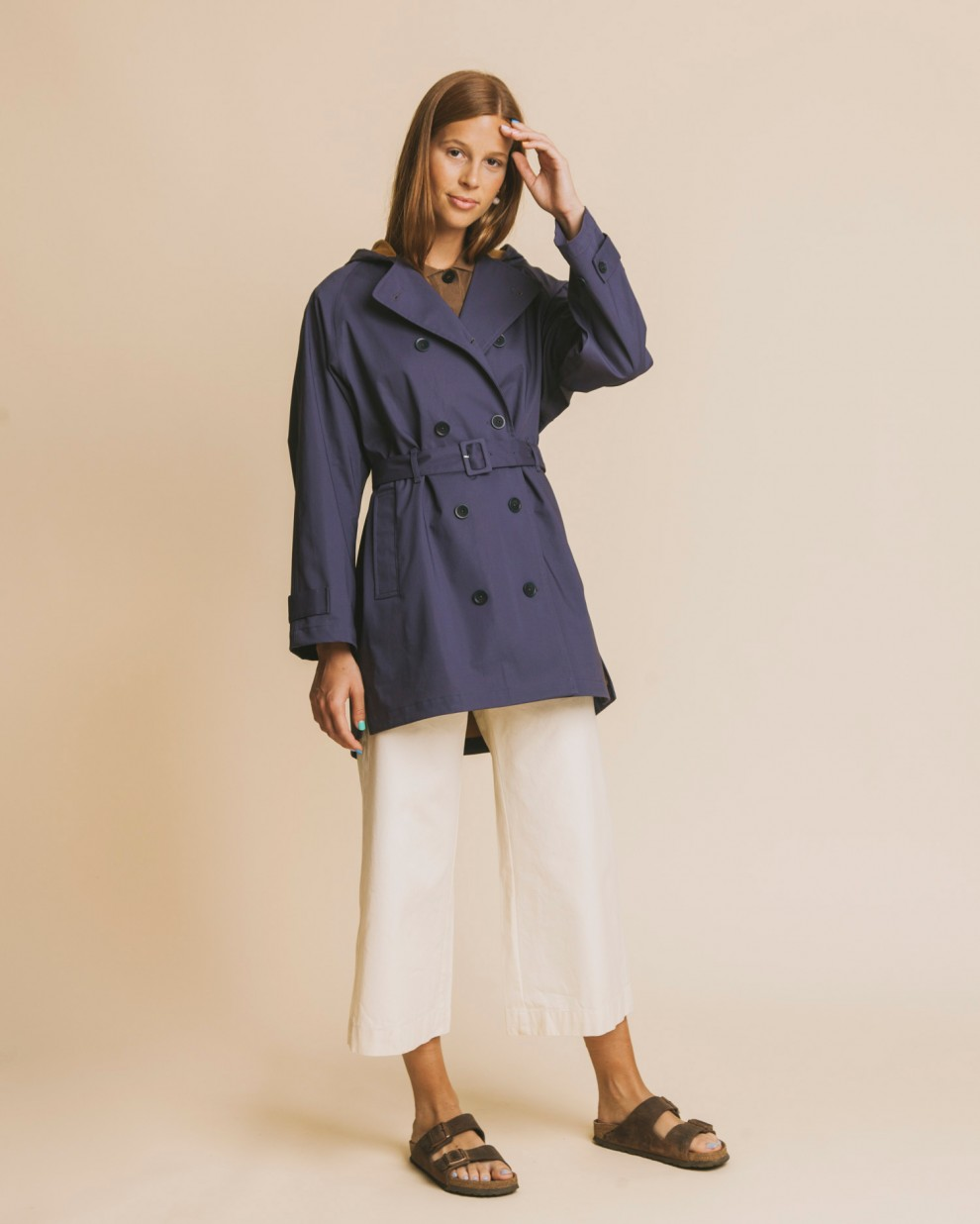 BLUE VAAL TRENCH RAINCOAT