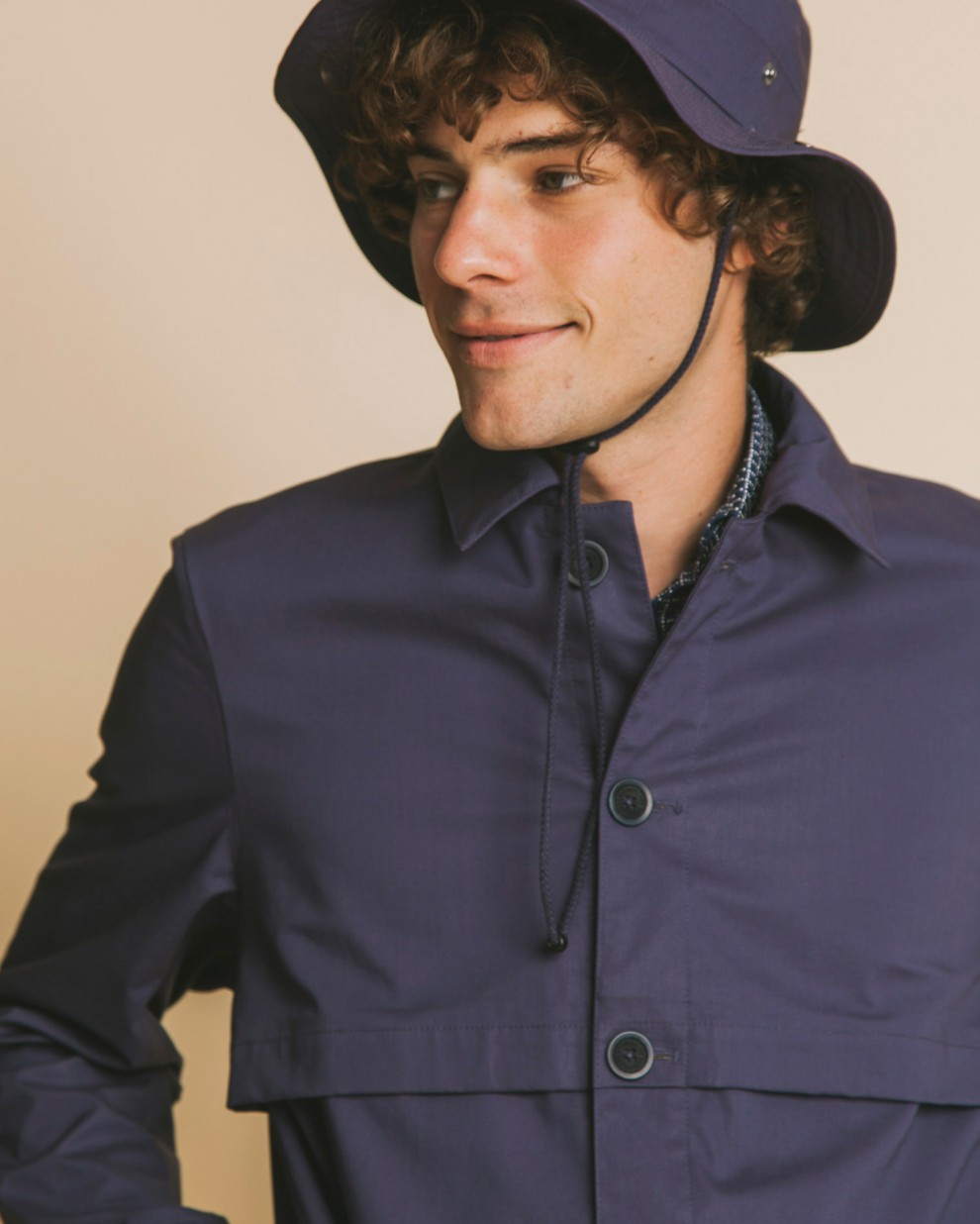 Blue Okavango raincoat