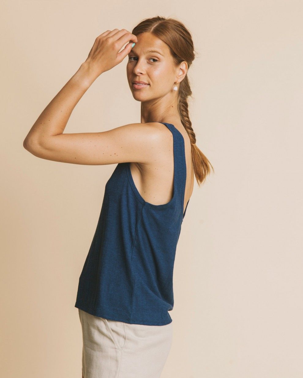 Blue hemp Tank top