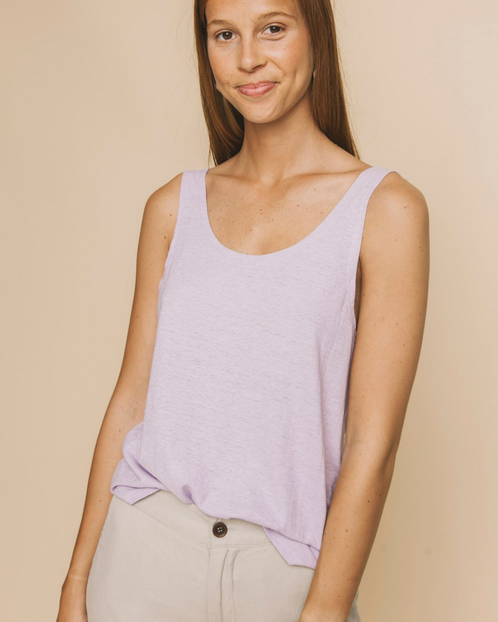 Mauve hemp Tank top