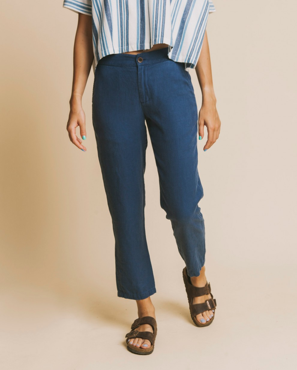 Blue hemp Dafne pant