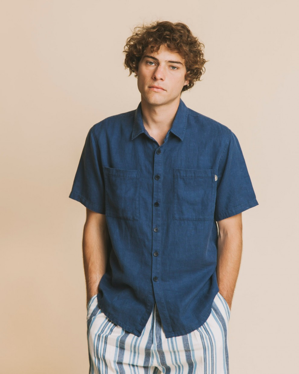 BLUE HEMP TOM SHIRT