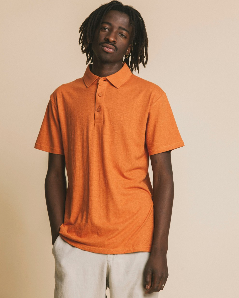 TERRACOTTA HEMP POLO