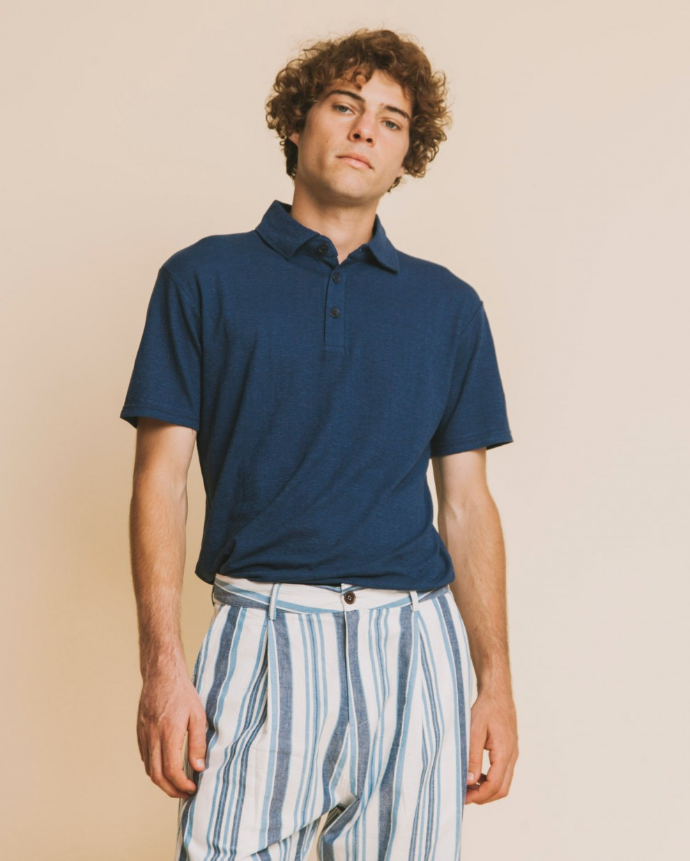 BLUE HEMP POLO