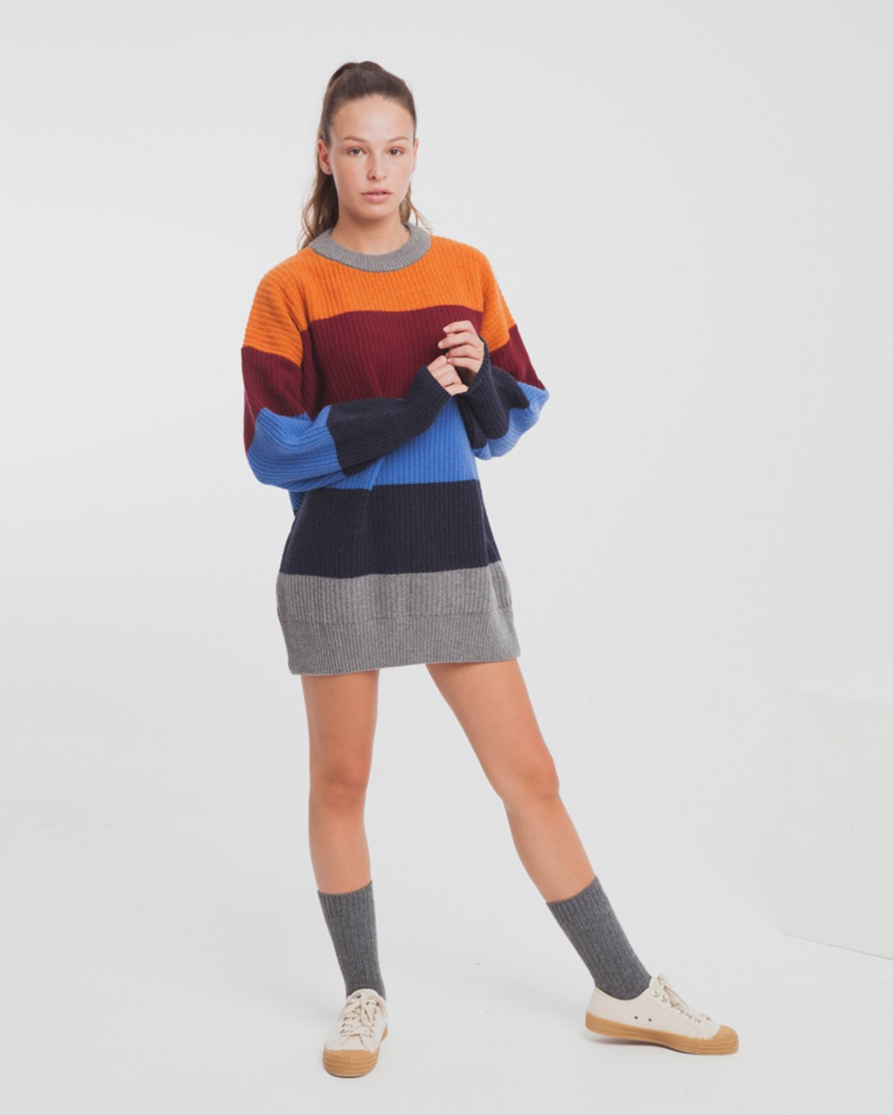 Cabernet Stripes Oversized Knit