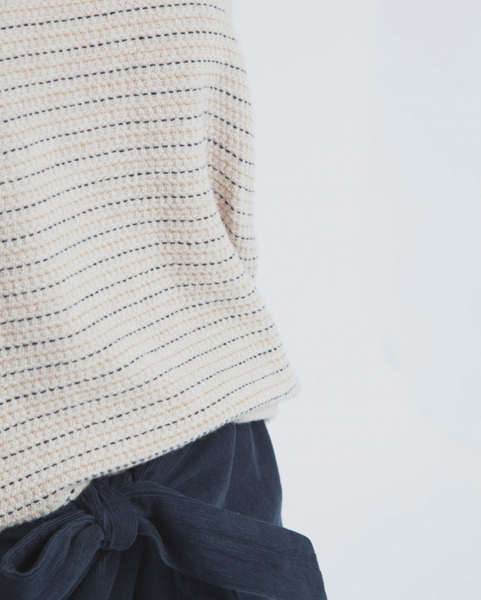 Ecru Lines Sweater