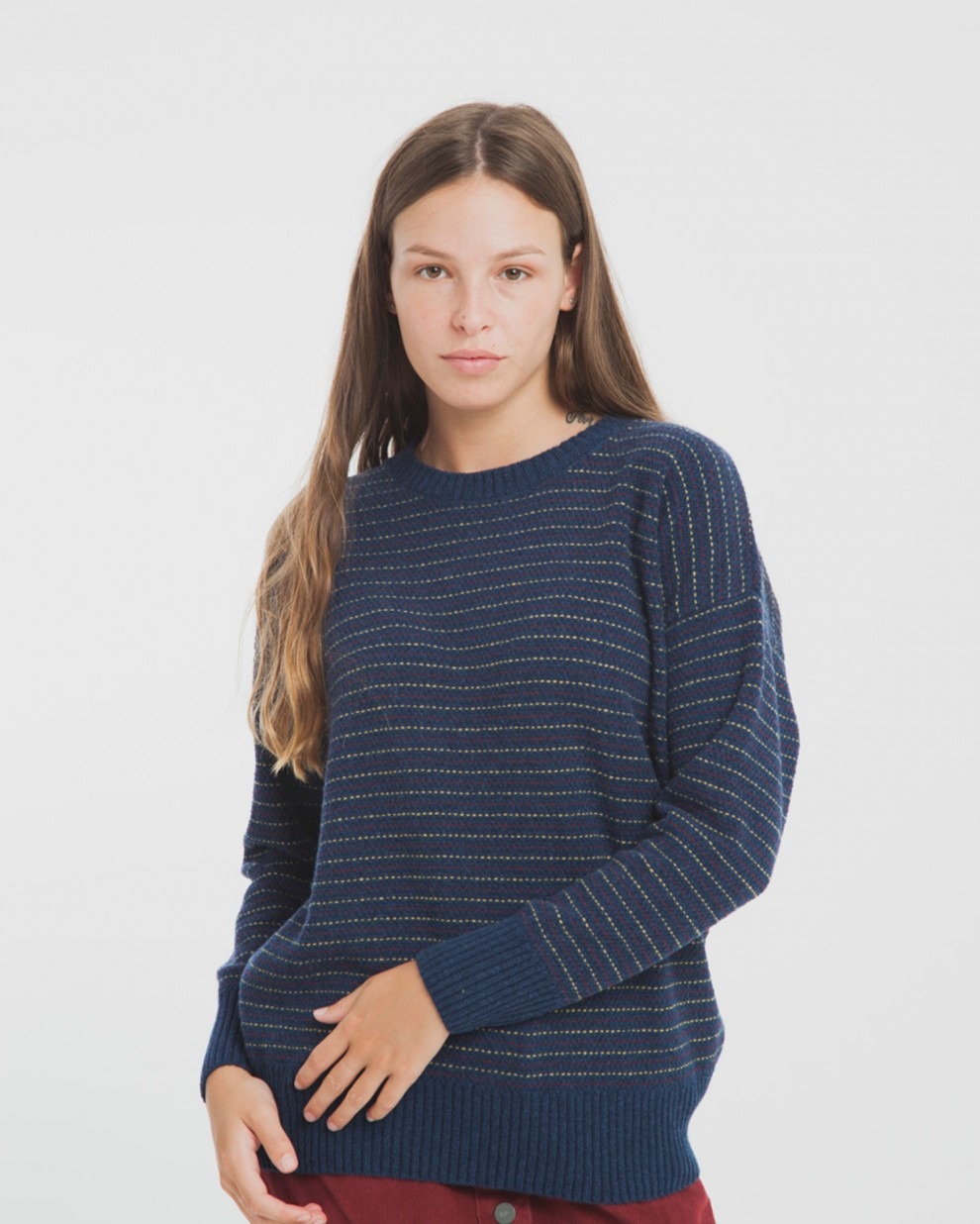 Blue Lines Knit Sweater