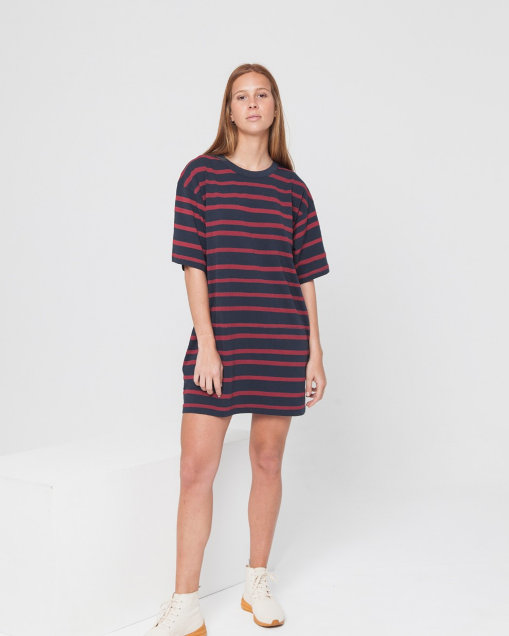 Aquarella Stripes Tee Dress