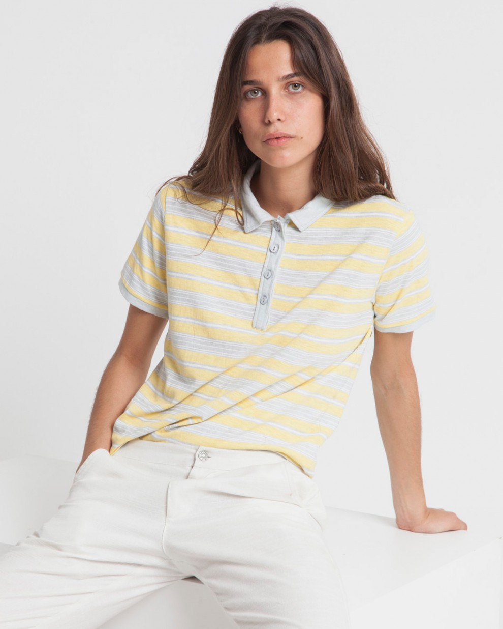 Big Stripes Irina Hemp Polo