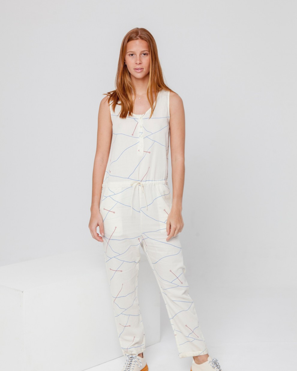 Abstract Lines Jumsuit