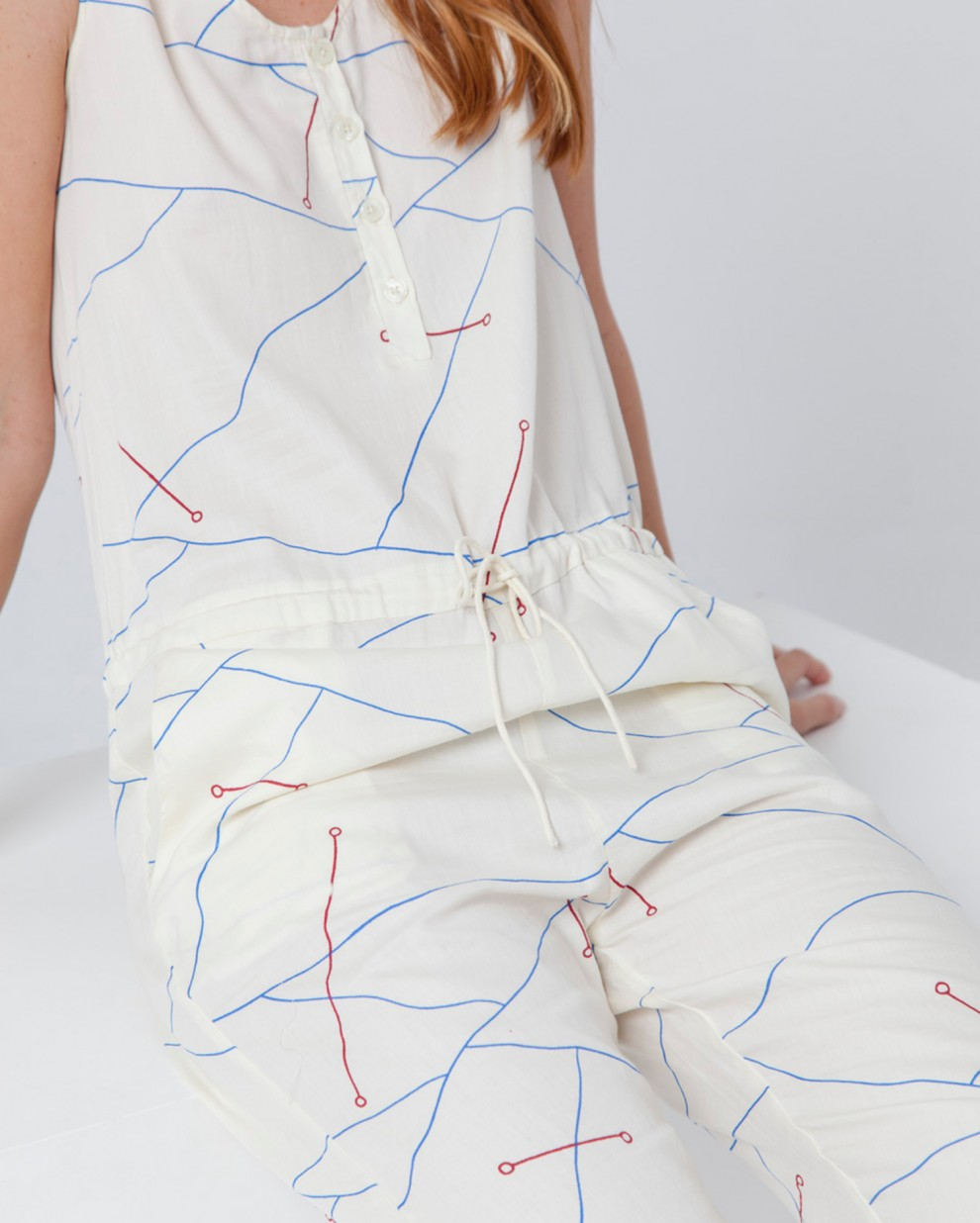 Abstract Lines Jumpsuit