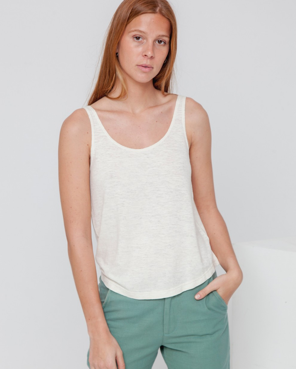 Tank Top Hemp Ecru