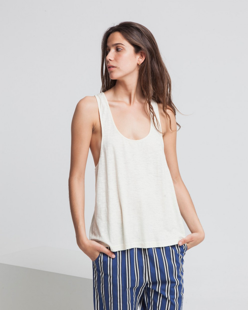 Ecru Hemp Showme Top