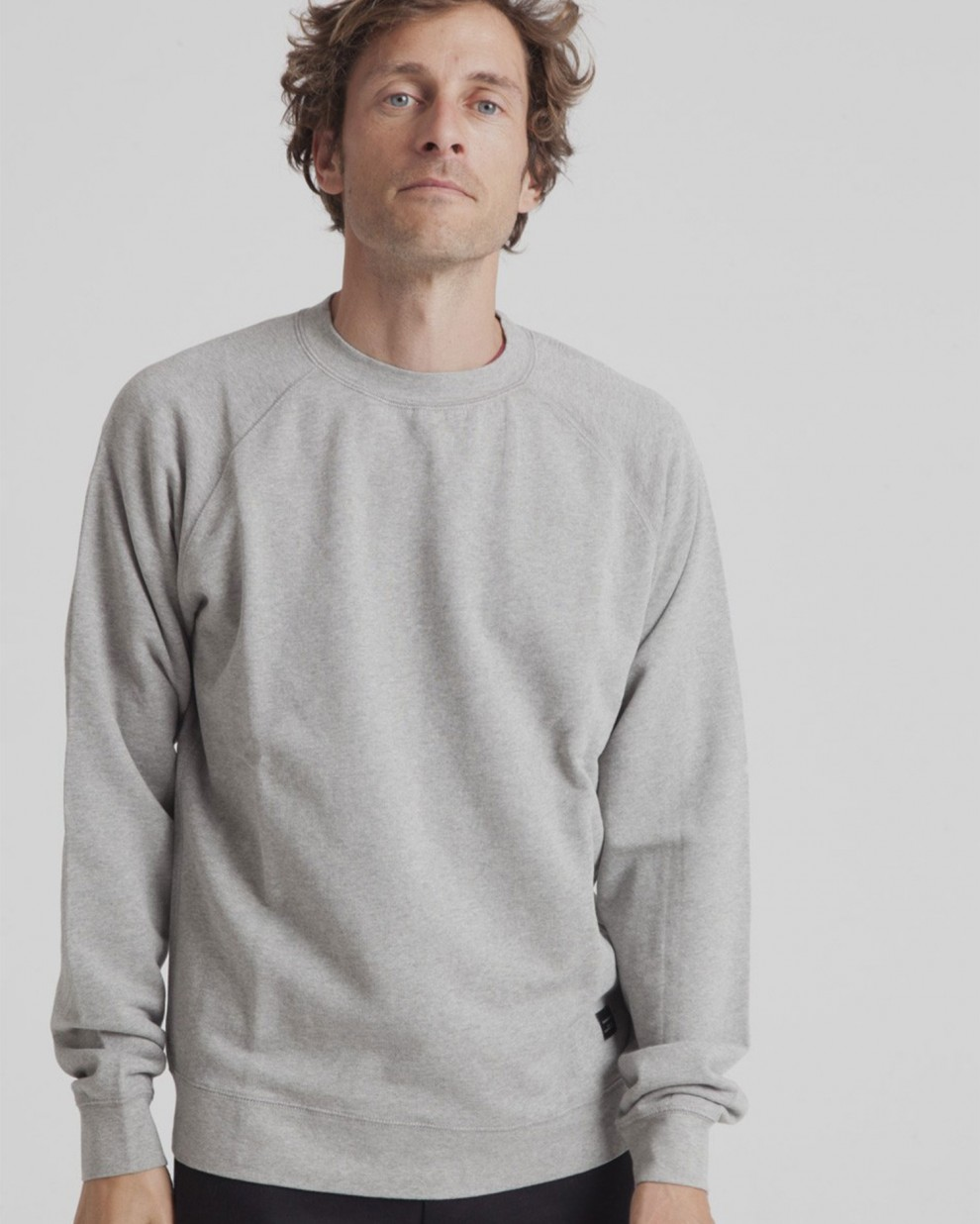 Grey melange basic sweatshirt