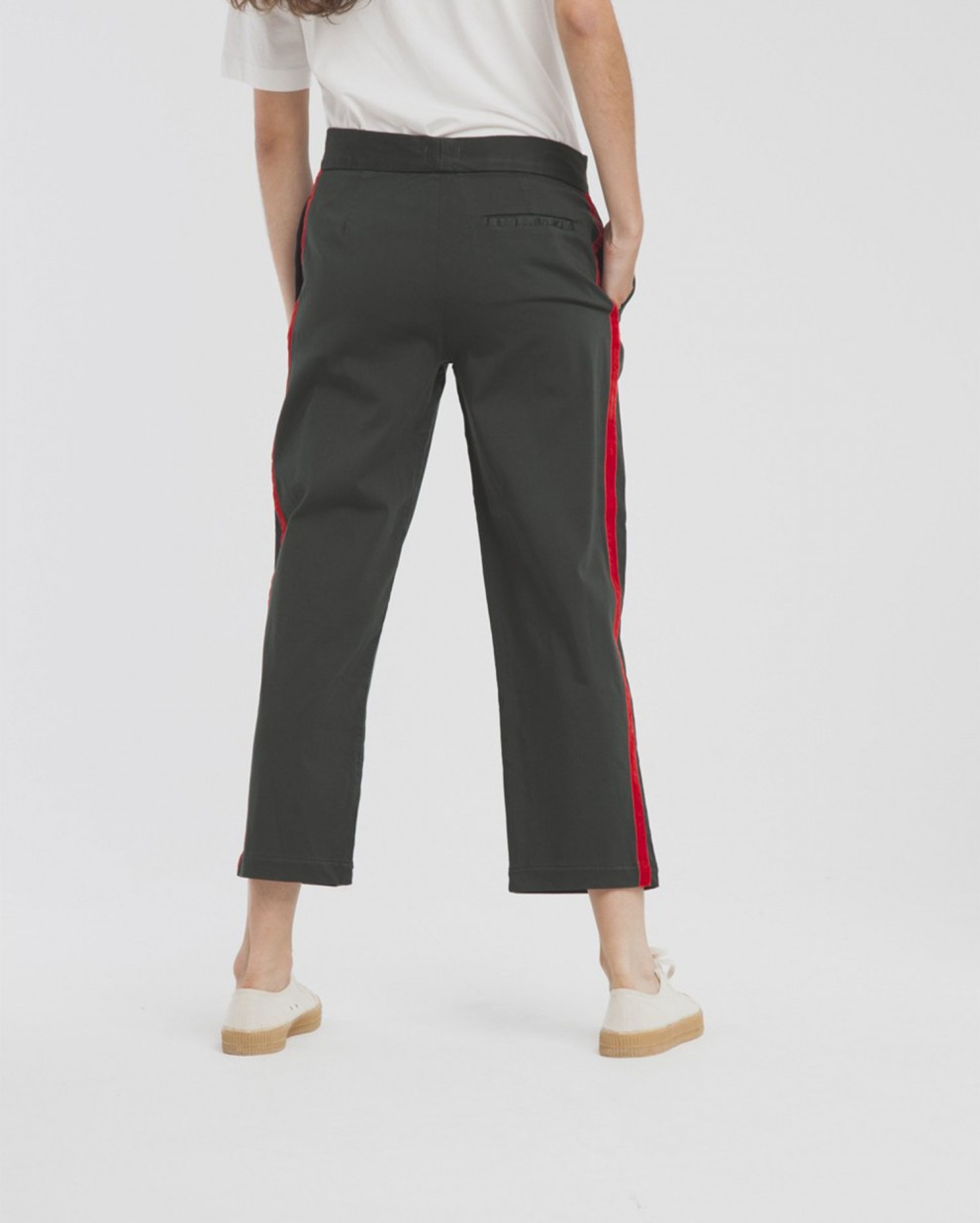 Green Lateral Lines Thai Pant