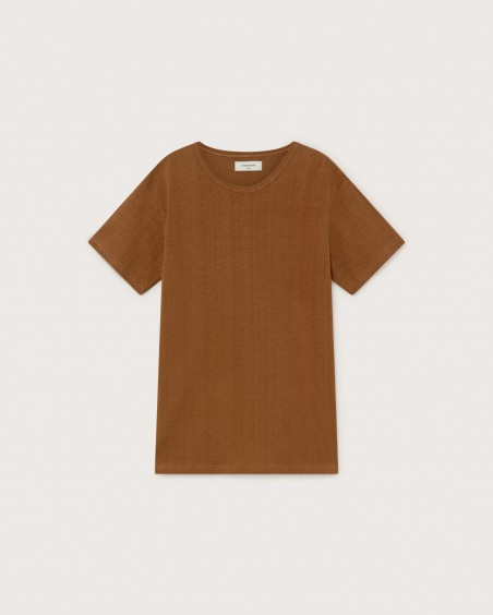 BASIC CARAMEL HEMP T-SHIRT