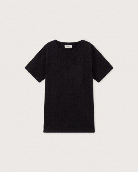 BASIC BLACK HEMP T-SHIRT