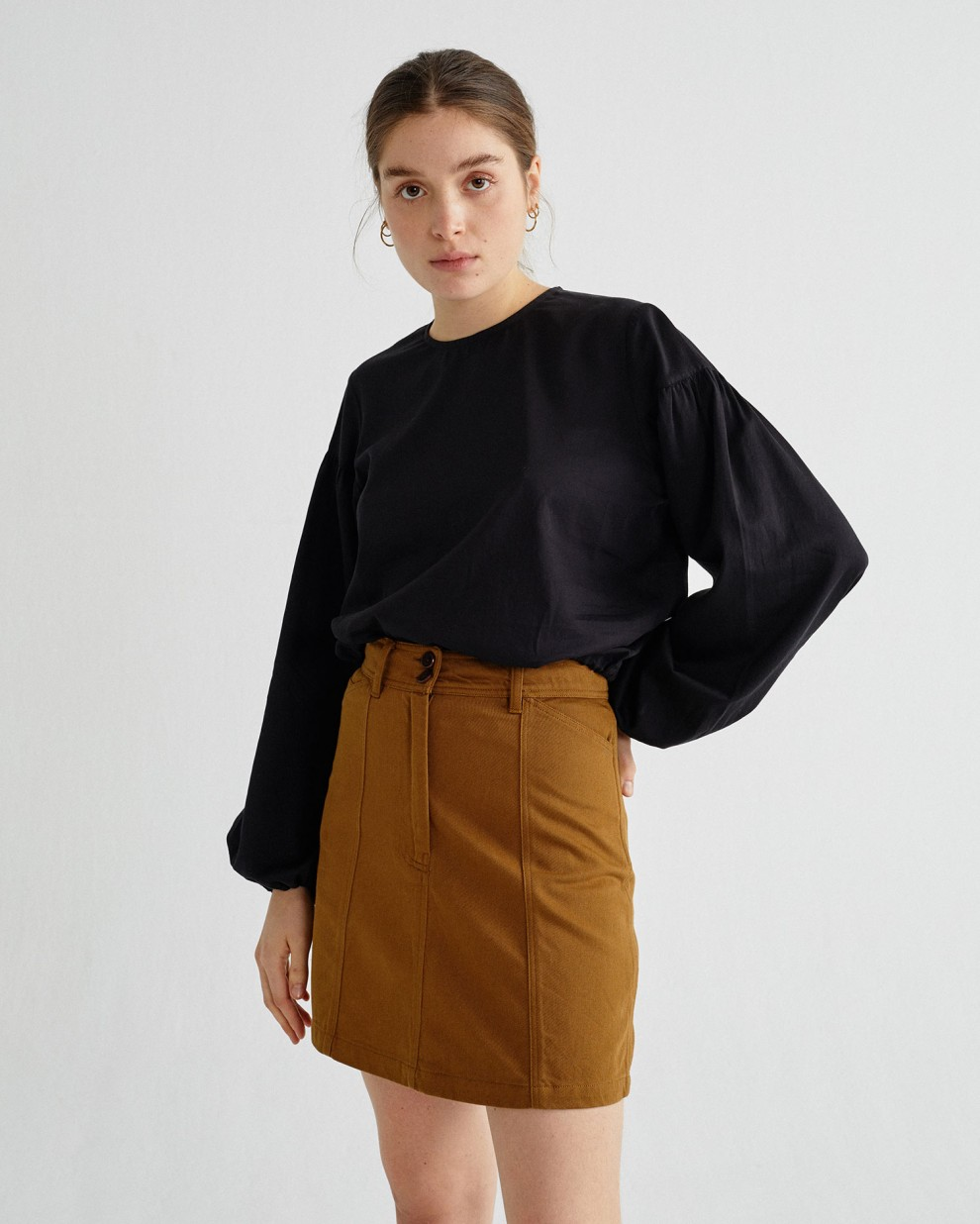 BLACK BOANN BLOUSE