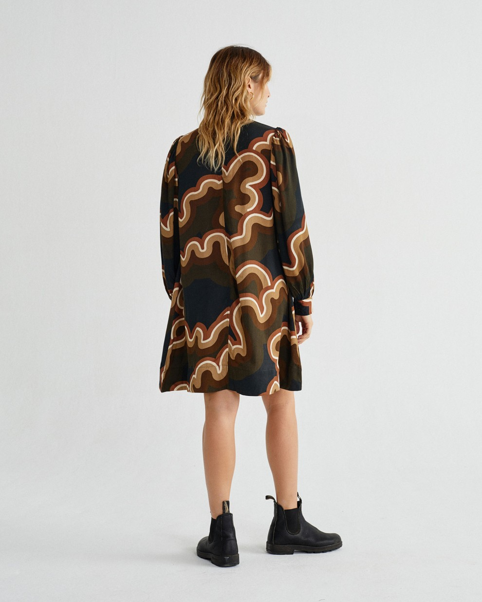 PSYCHEDELIC BLACK FLORA DRESS
