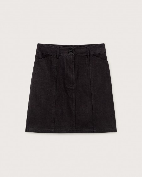 BLACK HEMP RHEA SKIRT