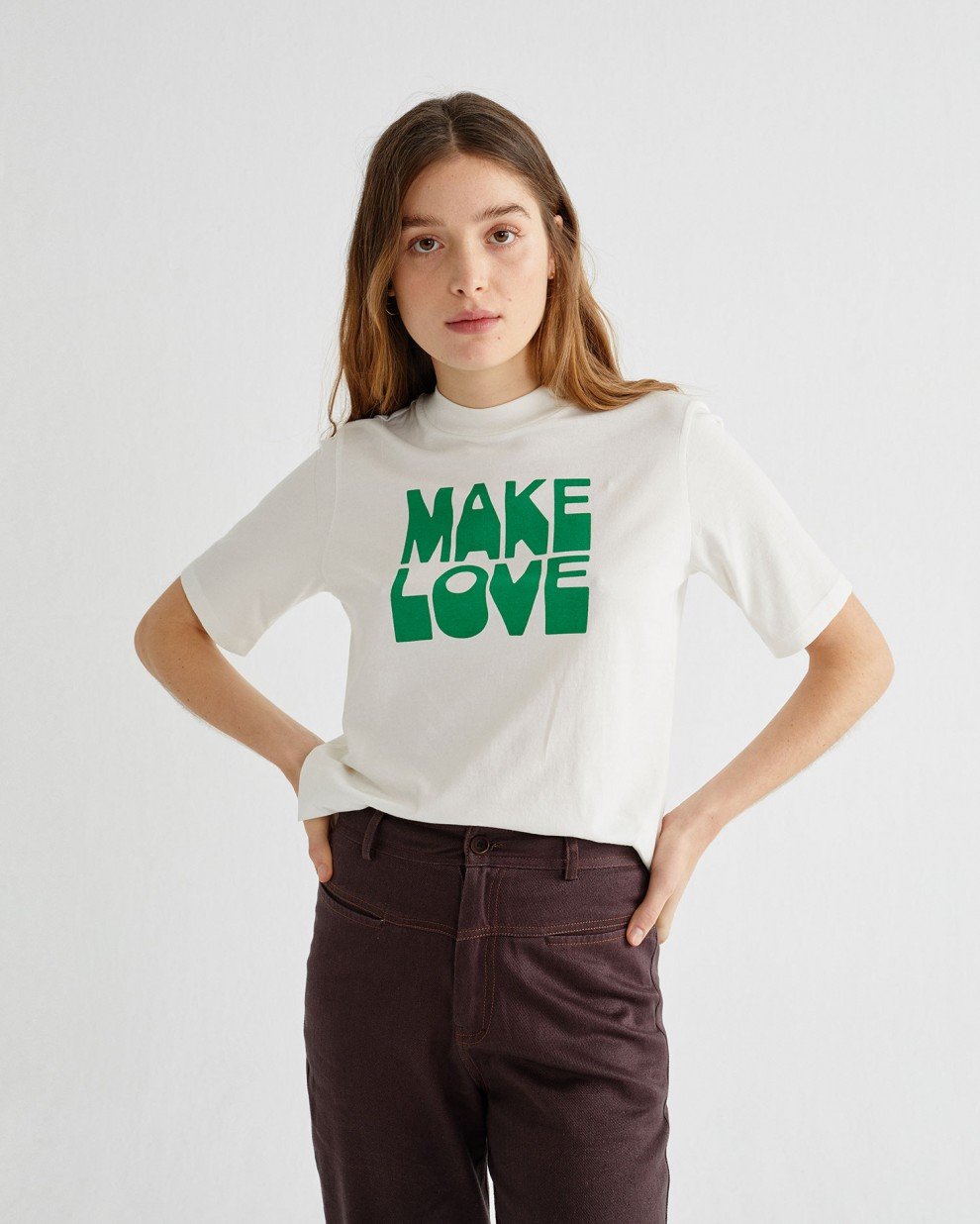 MAKE LOVE MOCK T-SHIRT