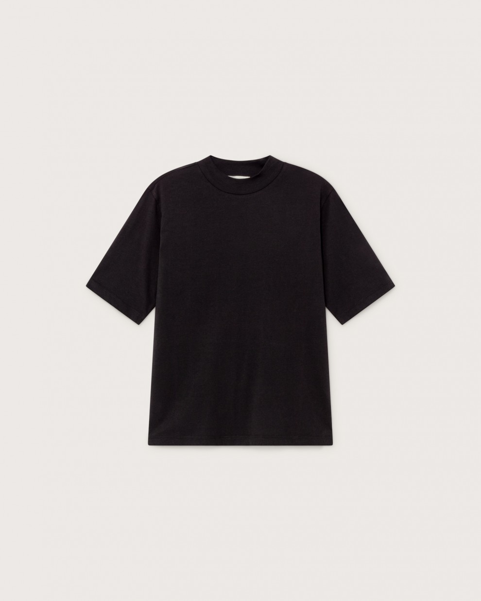 BASIC BLACK MOCK T-SHIRT