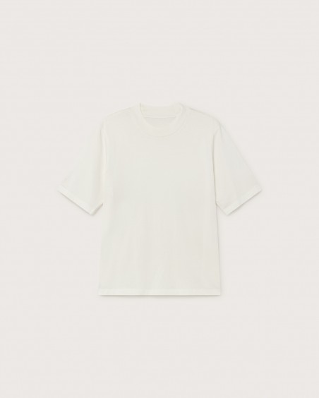 BASIC WHITE MOCK T-SHIRT