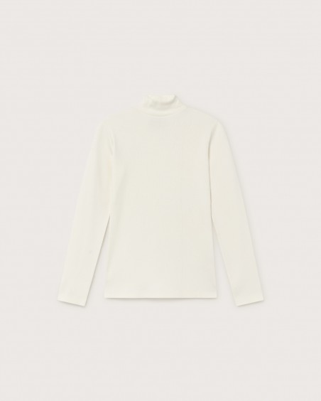 WHITE RIB AINE L/S TOP